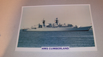 HMS Cumberland 1986 British warship framed picture